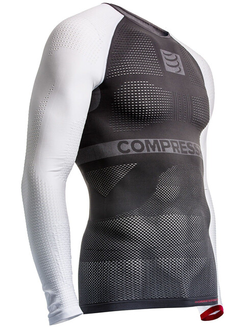 Compressport On/Off Multisport - T-shirt manches longues running - gris/blanc